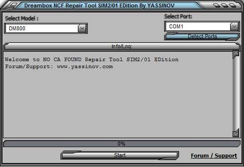 �� ����� Dreambox NO CA FOUND ������ Repair Tool SIM2/01 EDition