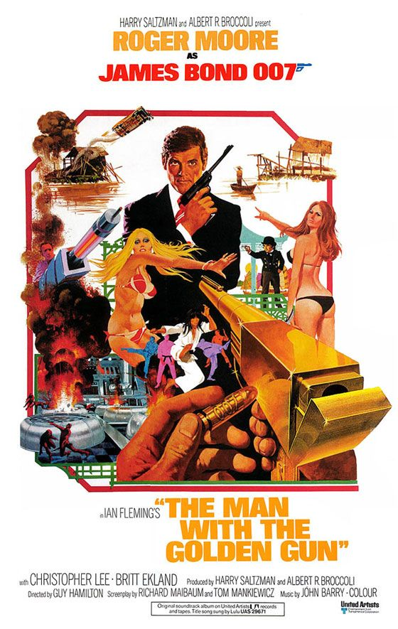 James Bond 007 The Man With The Golden Gun Poster