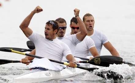 Российские байдарочники - чемпионы мира