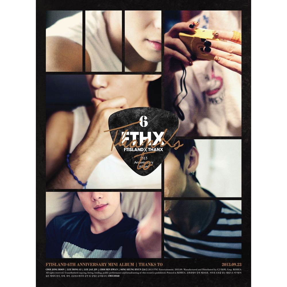 (Mini Album) FTISLAND - THANKS TO (6th Anniversary Mini Album)