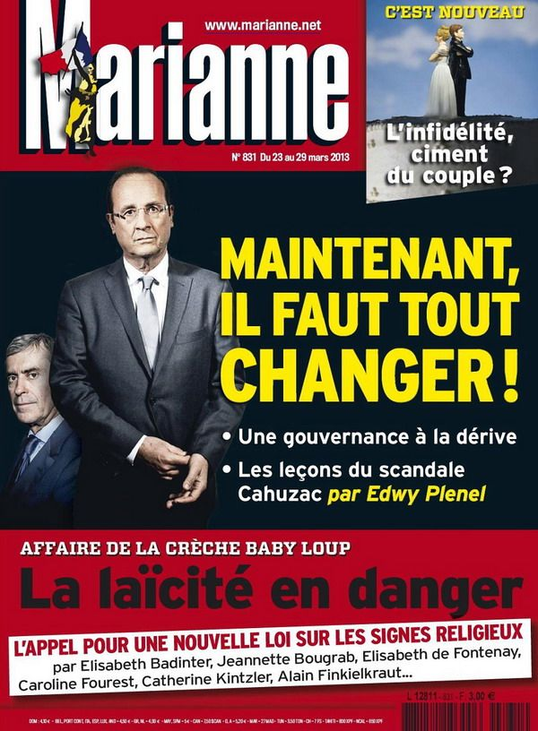 Marianne N°831 du 23 au 29 Mars 2013