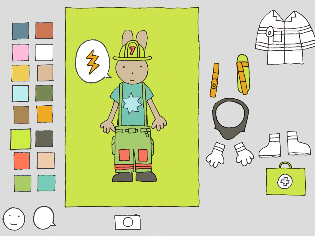 Dress the bunny firefighter! | Firefighter Dress-Up app
