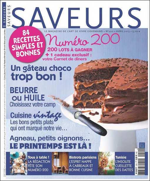 Saveurs N°200 Avril 2013