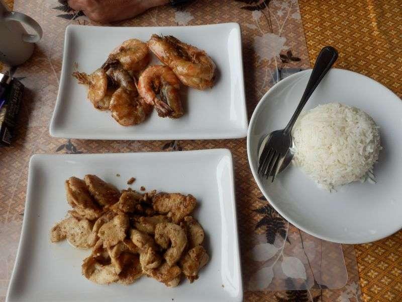 Chicken with Garlic & Pepper + Shrimps mit Garlic & Pepper