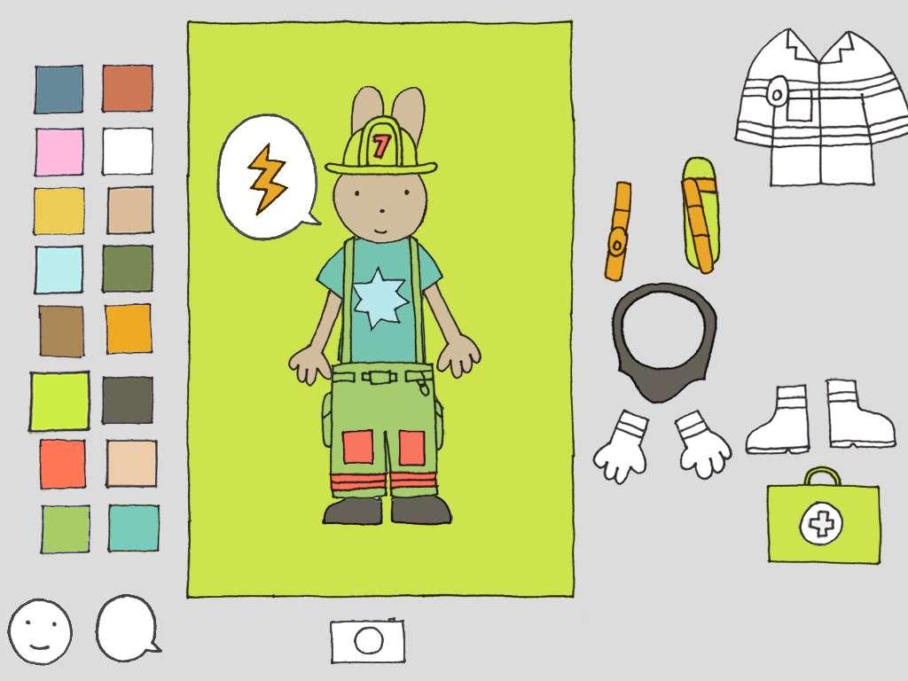 Dress the bunny firefighter! | Firefighter Dress-Up app